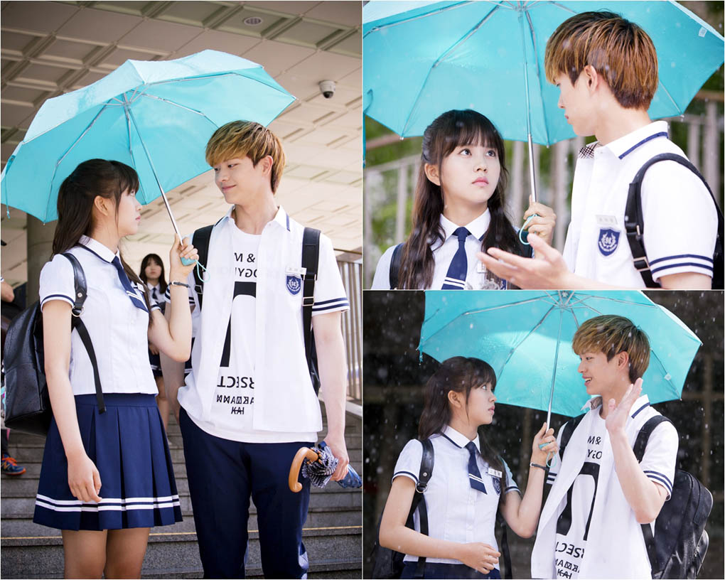 《学校2015》金素贤陆星材雨天同撑伞