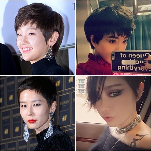 韩女星短发造型大比拼:韩艺瑟-朴素丹-金娜英-gain