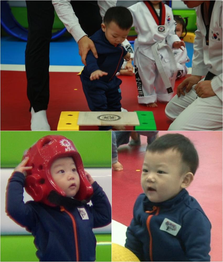 《超人回来了》大发跟姐姐学跆拳道 出手不凡