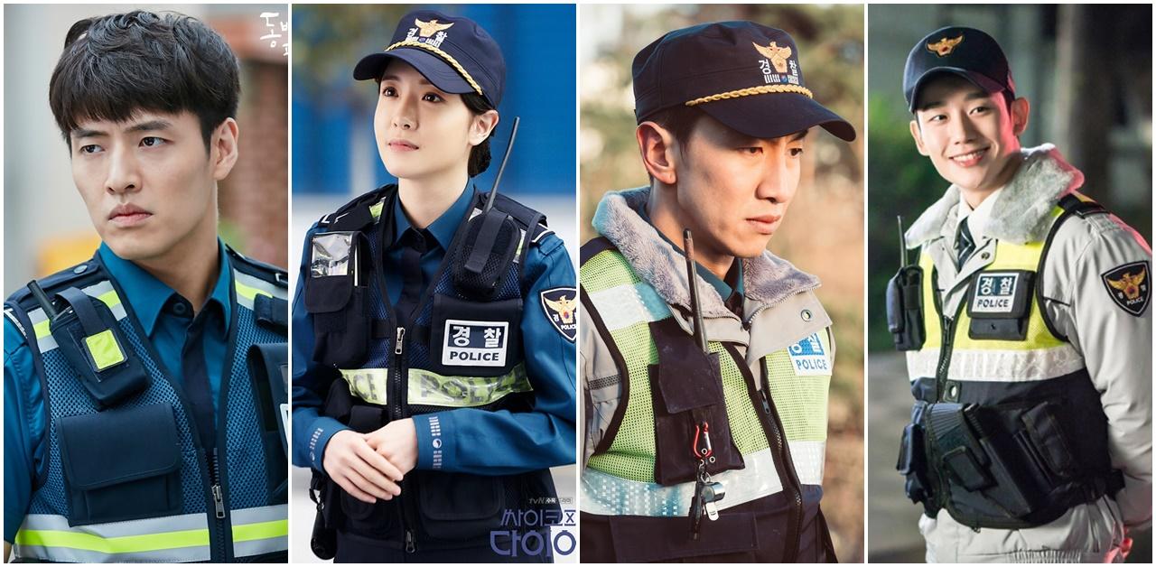 这套巡警制服谁穿起来比他/她们帅又美?近三年来韩剧中的警察们 ...