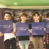 B.A.P认证粉丝的爱心应援,於SNS上传认证照片