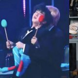 【有片】BTS防弹少年团JIN&V台下开启「观众模式」玩嗨,说好的偶像包袱呢?
