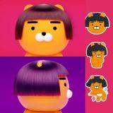 Ryan換了妹妹頭短髮啦!推出了一系列可愛的貼紙,這個髮型莫名的有喜感呢!
