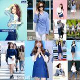 清爽的蓝白搭配!郑氏姐妹、宋智孝、Tiffany、Hani和Joy等女星教你如何穿搭