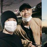 去漢江深夜約會了!BTS防彈少年團RM、JIMIN時隔三年一起騎車