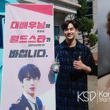 意外的友情!BTS 防弹大哥 JIN 为拍戏中的俞承豪送上应援咖啡车