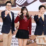 《白種元的三大天王》記者會:EXID成員Hani捂緊裙擺防走光