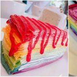 甜食控集合!媲美韩国LADY M:层层分明,彩虹千层蛋糕非吃不可!