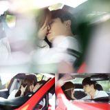 《W-两个世界》姜哲、妍珠车内甜蜜亲吻 画面相当唯美