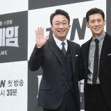 名品演员的相遇!tvN新剧《金钱游戏》发布会:李圣旻、沈恩敬、高洙盛装出席