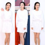 Sandara Park 穿白裙清新可人