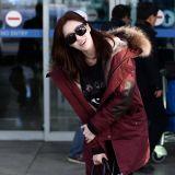T-ara最新街拍 恩靜笑容燦爛閃耀機場