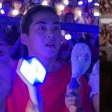 部隊休假去EXO演唱會!「大哥」XIUMIN身穿「Dress Code」红色、手持「愛麗棒」應援