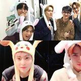 EXO「宠粉」一流!为了粉丝跳接力舞蹈、戴著兔子帽子…灿烈更是与签售会期间一直哭泣的粉丝合照!