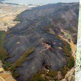 青山綠樹變黝黑一片! 火災過後的江原道衛星照片公開