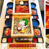 【弘大必吃】弘大新餐厅,木盒蒸海鲜+海鲜炒码面+寿司+辣炒鸡一次满足