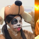 MAMAMOO扮成「小狗」表演新歌,台上可爱爆萌,台下一脸生无可恋~XD