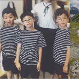 暴風成長的三胞胎近照公開!大韓民國萬歲越來越有小男孩的氣質啦!