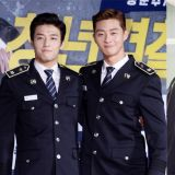 在《青年警察》裡穿警裝的朴敘俊&姜河那!學生時期的照片也吸引大家的視線!
