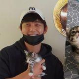 太暖!俞承豪領養2隻小貓咪,認證照笑容超開心❤