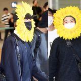 BTS防彈少年團回韓國!Jin、SUGA、j-hope向日葵造型受矚目,這是...玩遊戲輸了的懲罰嘛!