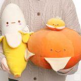 韓國DAISO新出「香蕉、柑橘抱枕」,萌到心窩裡了!