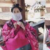 潤娥穿古裝酷似人偶 女神吃包子都是那麼美