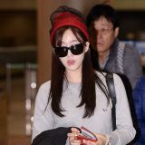 T-ara恩靜素顏亮相機場 奢華大包搶鏡
