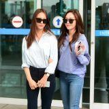 Jessica&Krystal齐赴港 姐妹Look狂吸睛