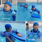 宋一國曬兒子近照 三胞胎游泳好歡樂!
