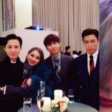 GD&大声&T.O.P齐出席太阳婚礼 CL浓妆很抢镜