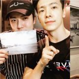 SJ东海SNS分享与EXO世勋的合照:「中秋假期的最后一天也要过得开心!」