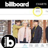 不愧是世界彈,Billboard直接在主頁版頭設置了「BTS」!