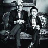 尹民秀父子拍攝復古黑白畫報