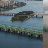 直观感受首尔的「洪水注意报」!暴雨前后的汉江水位变化