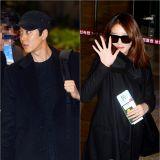 李東健智妍同亮相機場 黑色CP LOOK酷炫