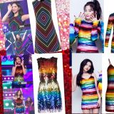 新年像Red Velvet和TWICE這樣 穿亮片彩虹裝為生活增色吧!