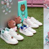 與Line Friends聯名的球鞋!每處都有可愛的熊大和兔兔,還有玩偶可以拿!