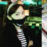 少女時代太妍戴上兔子耳出沒遊樂園 享受春遊樂
