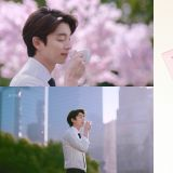 孔劉Oppa代言的咖啡推出春季櫻花限定包裝,裡面還附贈櫻花的保溫杯呢!