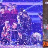 《2018 SBS歌谣大战》BTS防弹热唱六首热门曲气氛超high,最后还在舞台上谦虚行大礼