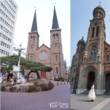 韩国必拍三大教堂 明洞圣堂、全州殿洞圣堂还有大邱的桂山圣堂