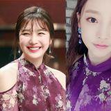 Sandara Park VS 具荷拉 VS Red Velvet Joy:露肩紫色碎花裙彰显女性魅力