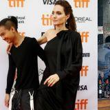 在首爾街頭偶遇Angelina Jolie的機率有多高?送兒子上學陪逛百貨,只帶一名翻譯就出行!