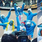 《新西游记7》成员们变身为「蓝色小精灵」!还原度百分之百 殷志源连表情都完美COS