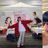 U娜又來發糖!劉寅娜為正在拍攝《德魯納酒店》的IU送上應援,兩人蘑菇頭特效超可愛!