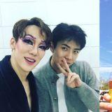 「具东魅好帅」EXO世勋给《阳光先生》柳演锡送上咖啡车,友情认证!