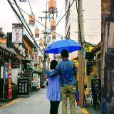 韓劇《經常請吃飯的漂亮姐姐》重現「單車相遇&下雨打傘」的浪漫拍攝場景~!