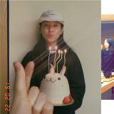 韓孝周昨天(22日)生日!同為BH娛樂的韓志旼、秋瓷炫、李智雅提早為其慶生