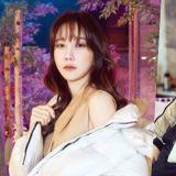 李智雅最新写真公开,穿羽绒外套都轻灵优雅!